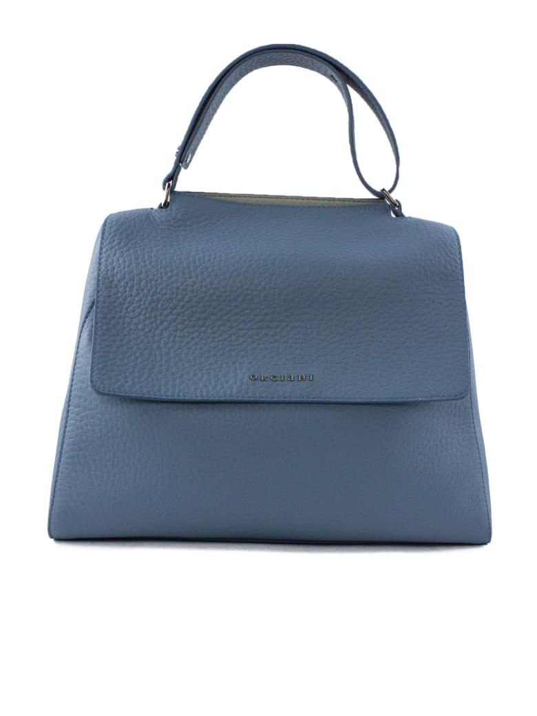 Orciani Hydrangea Leather Sveva Bag - Celeste
