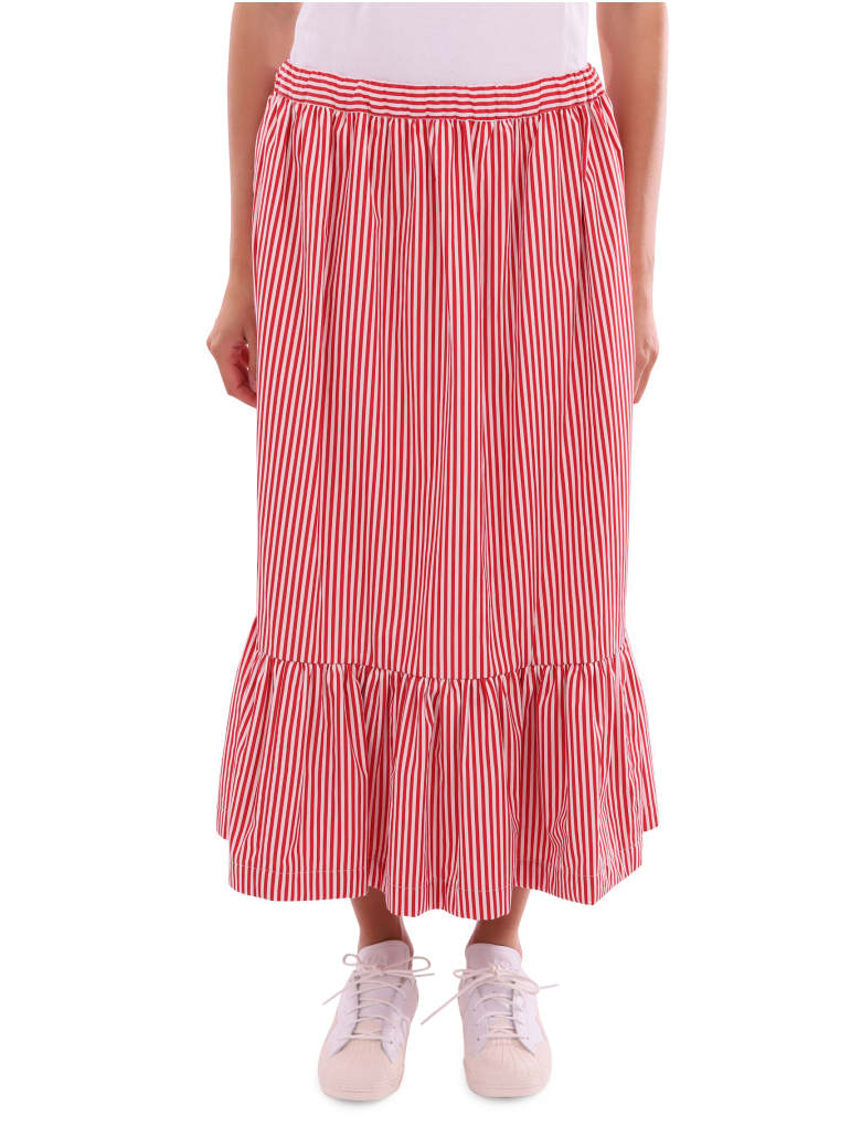 Comme Des Garçons Girl Red And White Skirt - Rosso/bianco
