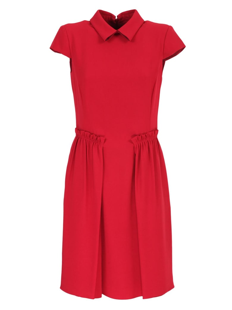 Emporio Armani short-sleeved dress - Rosso