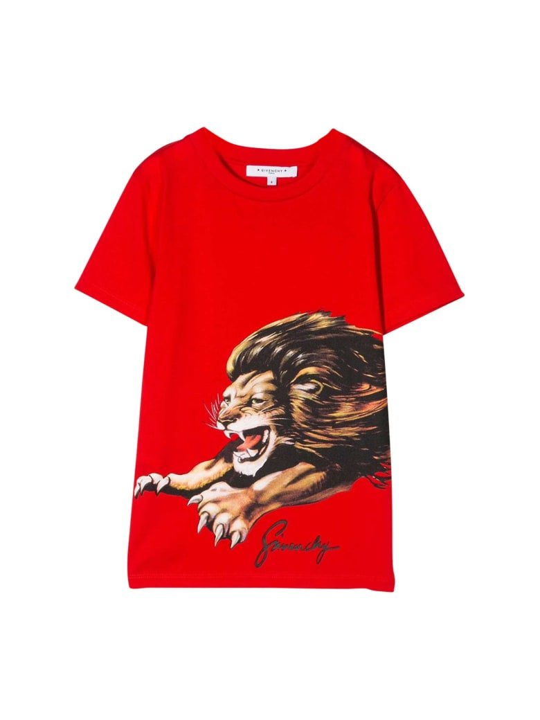 Givenchy Kids Printed T-shirt - Rosso