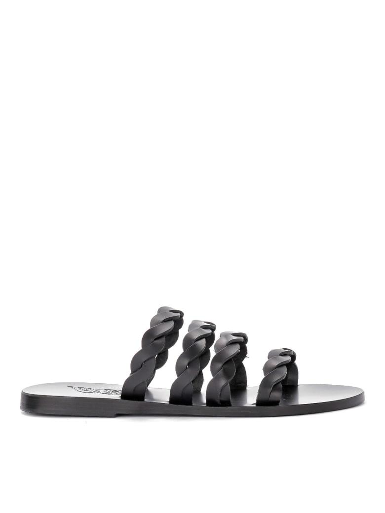 Ancient Greek Sandals Ancient Greek Kynthia Black Leather Sandal. - NERO
