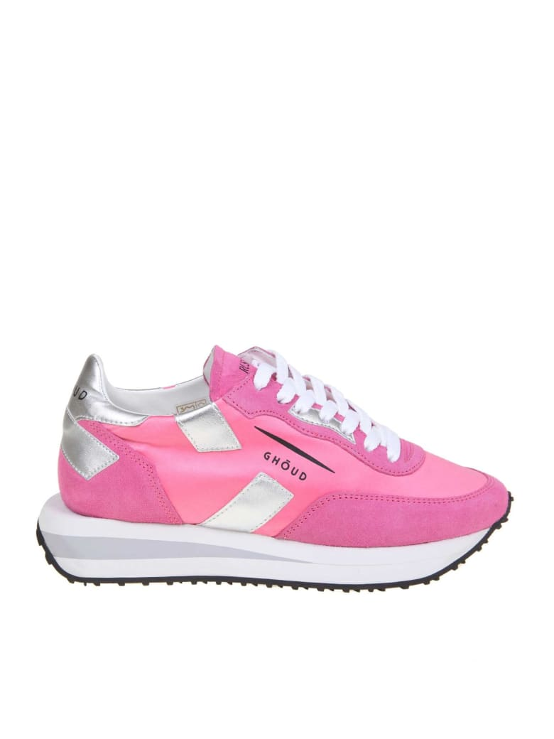 GHOUD Rush Sneakers In Nylon And Suede Color Fuchsia - Pink
