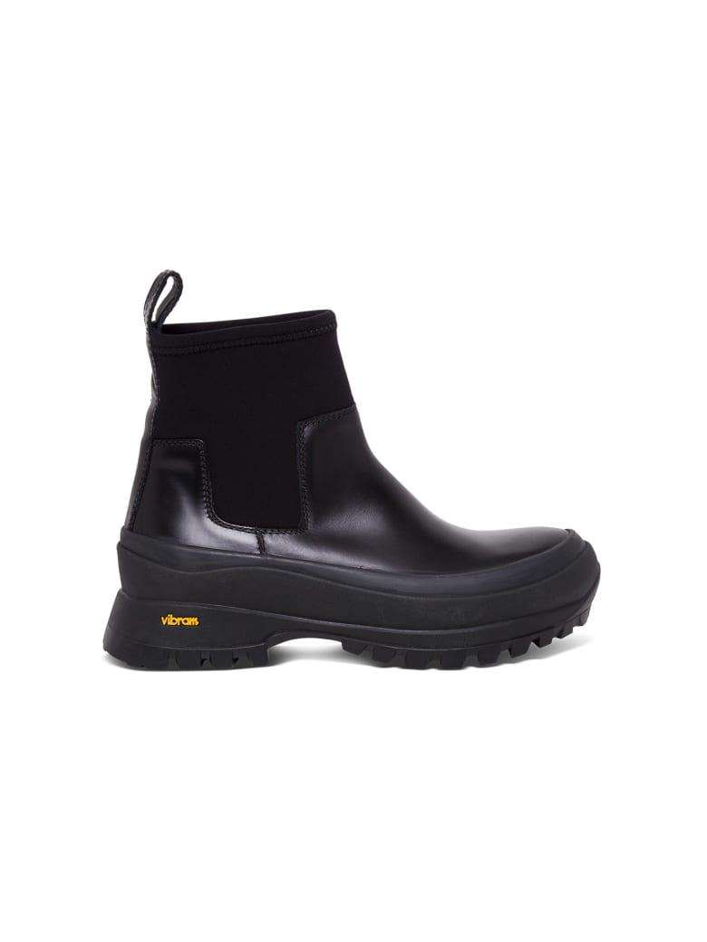 Jil Sander Vibram Neoprene Ankle Boots - Black