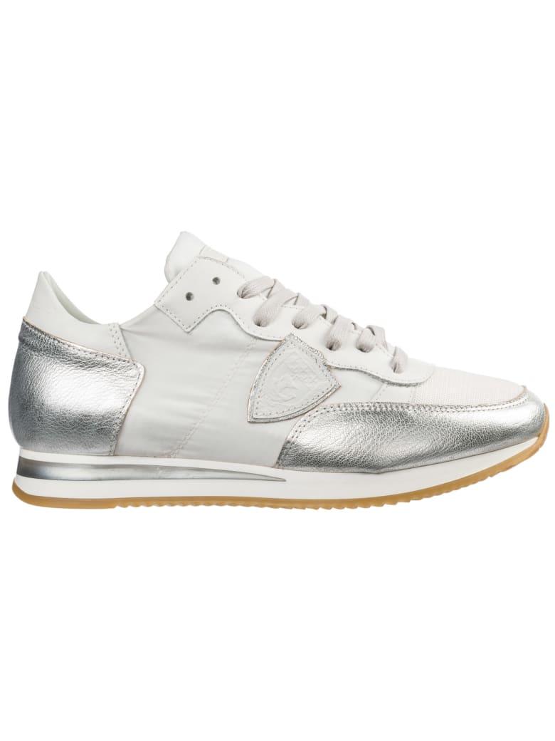 Philippe Model Tropez Sneakers - Blanc/Argent