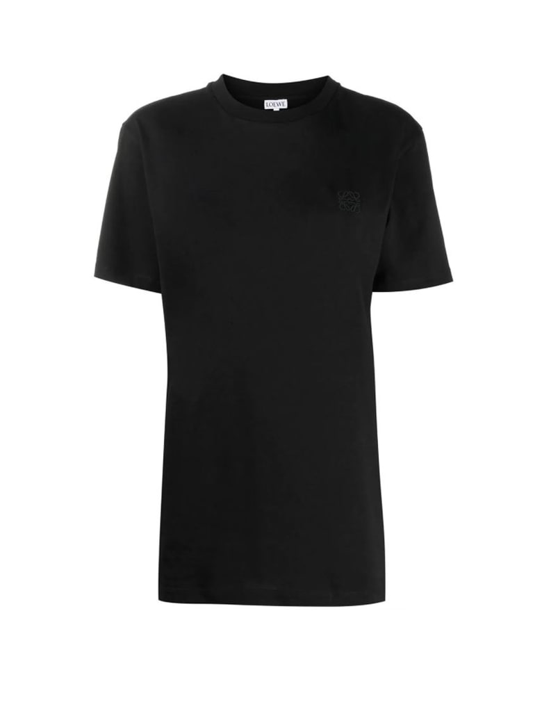 Loewe Loewe Logo Embroidered T-shirt - BLACK
