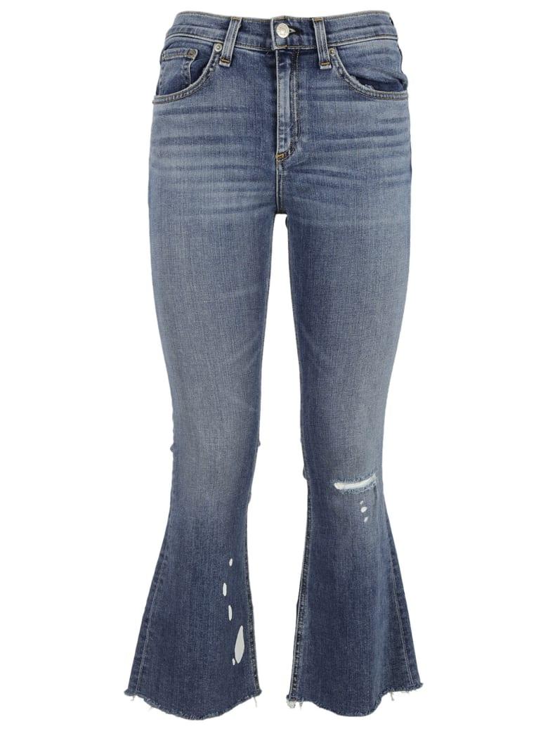 Rag & Bone Crop Flare Jeans - Maybrook