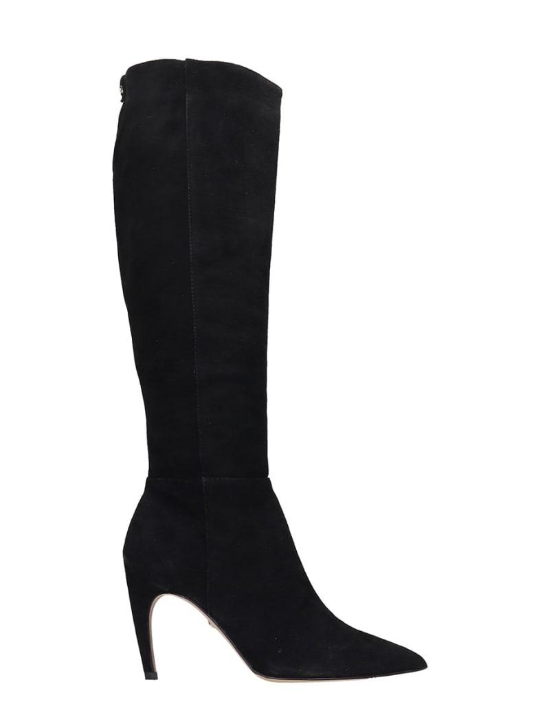 Sam Edelman Fraya High Heels Boots In Black Suede - black