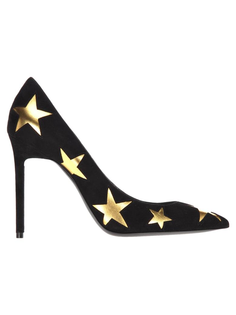 Saint Laurent Anja Stars Pumps - BLACK + GOLD