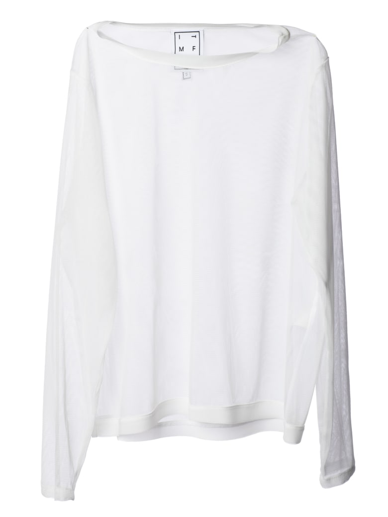 In The Mood For Love Sheer Top - White