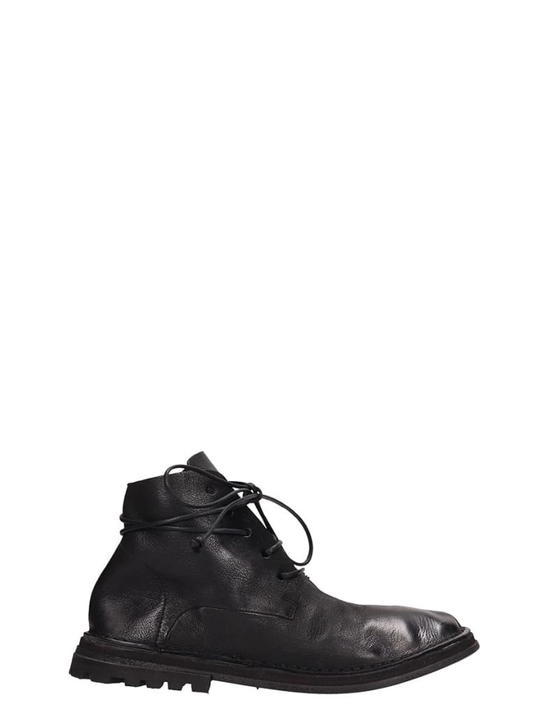 Marsell Black Leather Fungaccio Amphibians - black