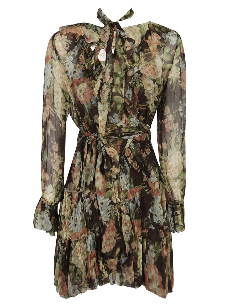 Zimmermann Ruffle Wrap Dress - Garden Bloom