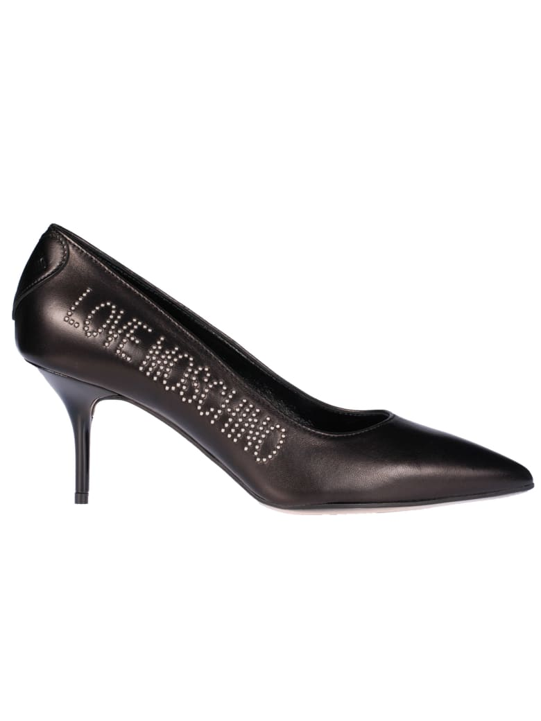 Love Moschino Logo Pumps - Nero