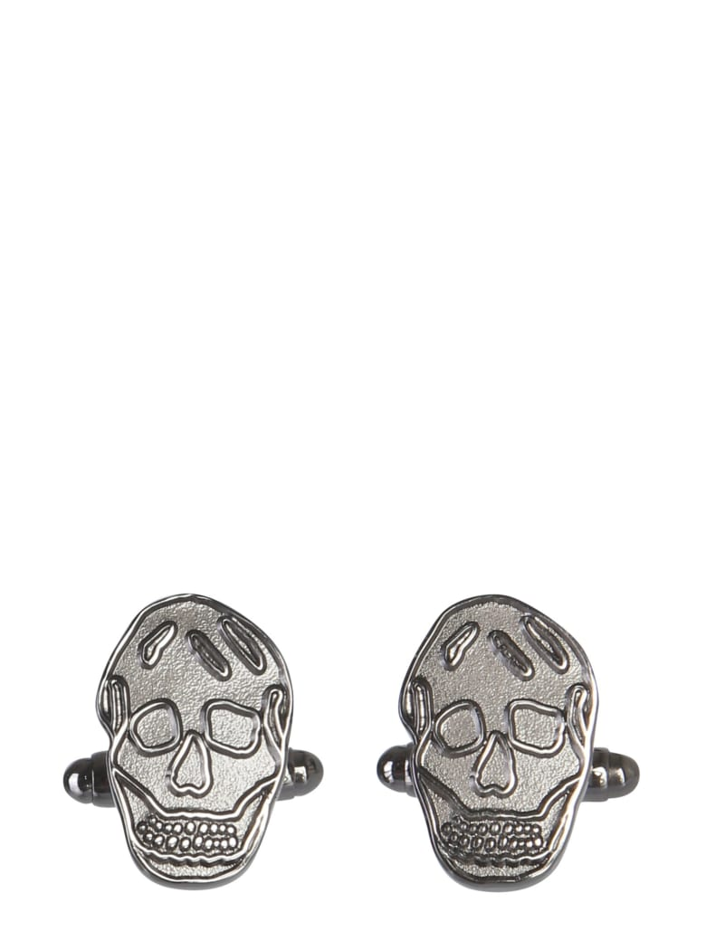Alexander McQueen Skull Cufflinks - ARGENTO