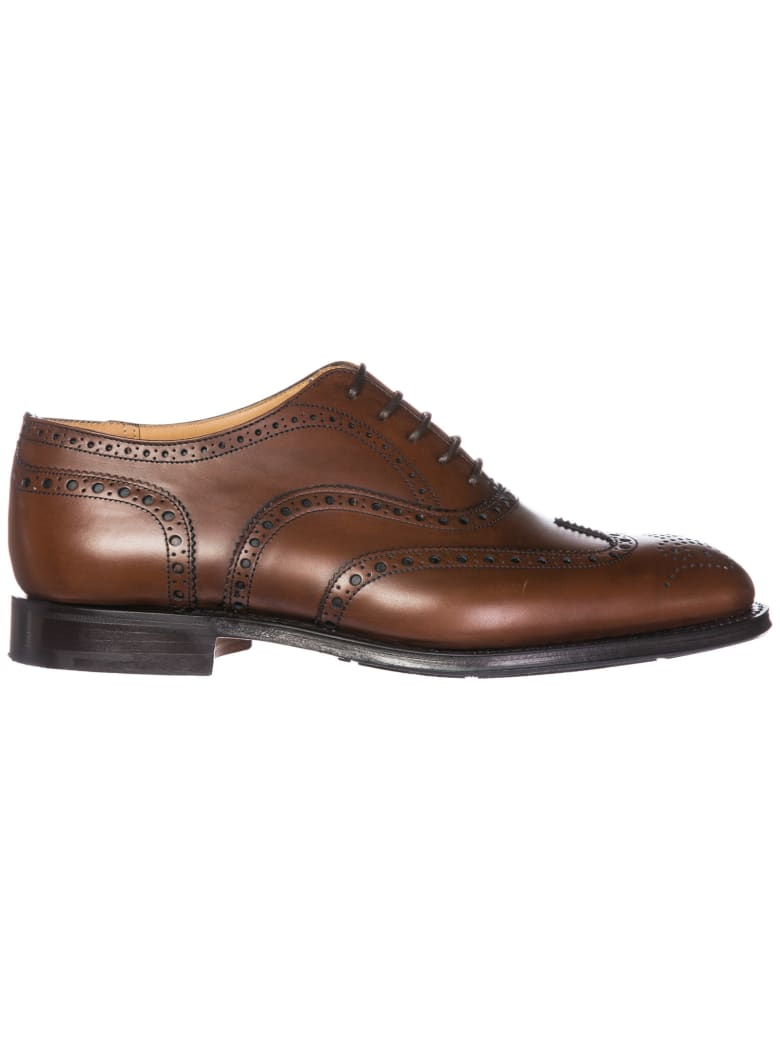 Church's  Classic Leather Lace Up Laced Formal Shoes Tarvin Brogue - Burnt