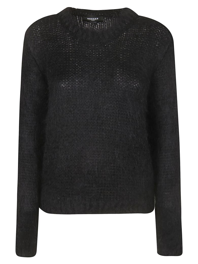 Rochas Knitted Sweater - Black