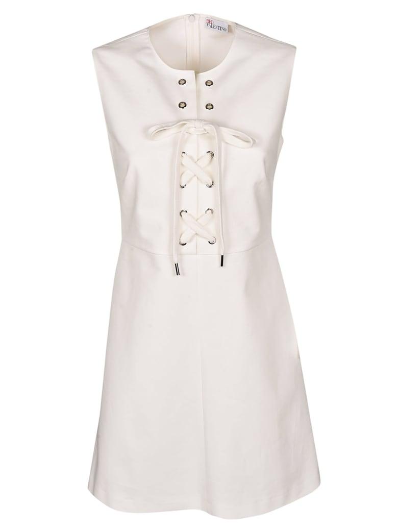 Valentino Lace-up Dress - White