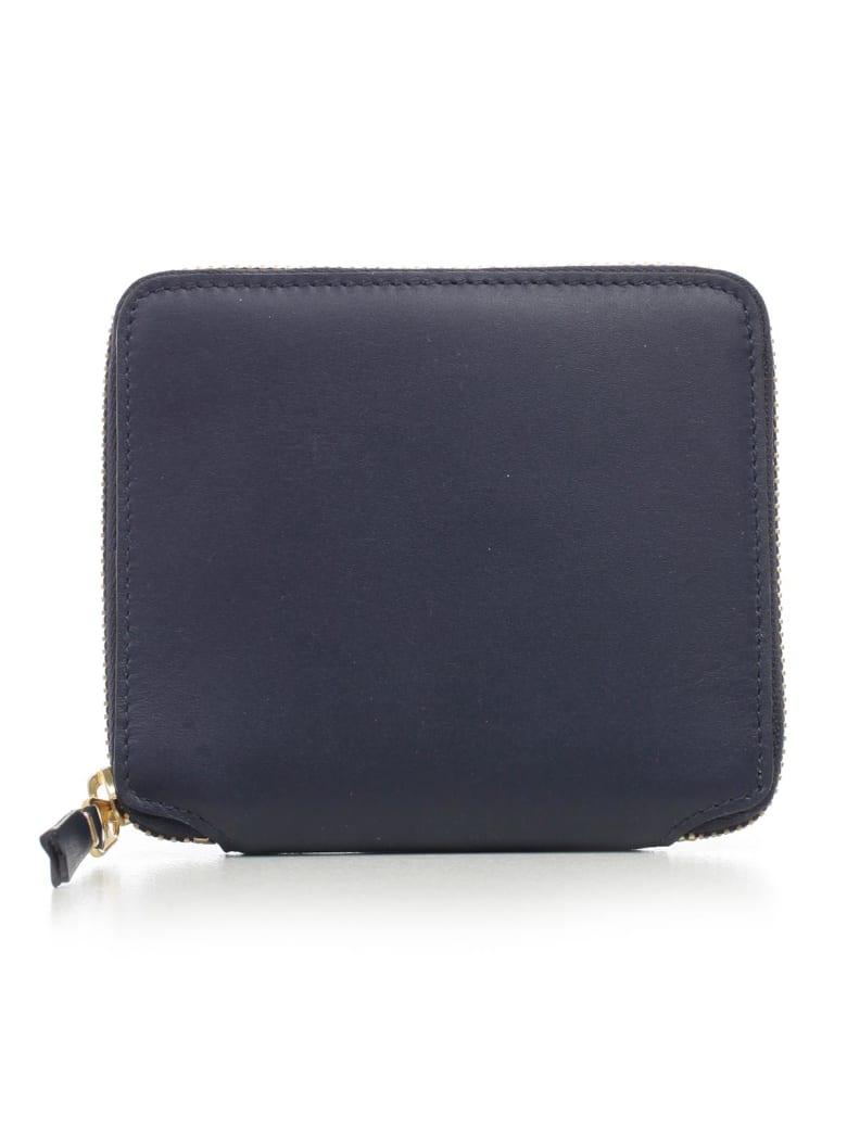 Comme des Garçons Wallet Wallet Medium Classic Leather Line - Navy