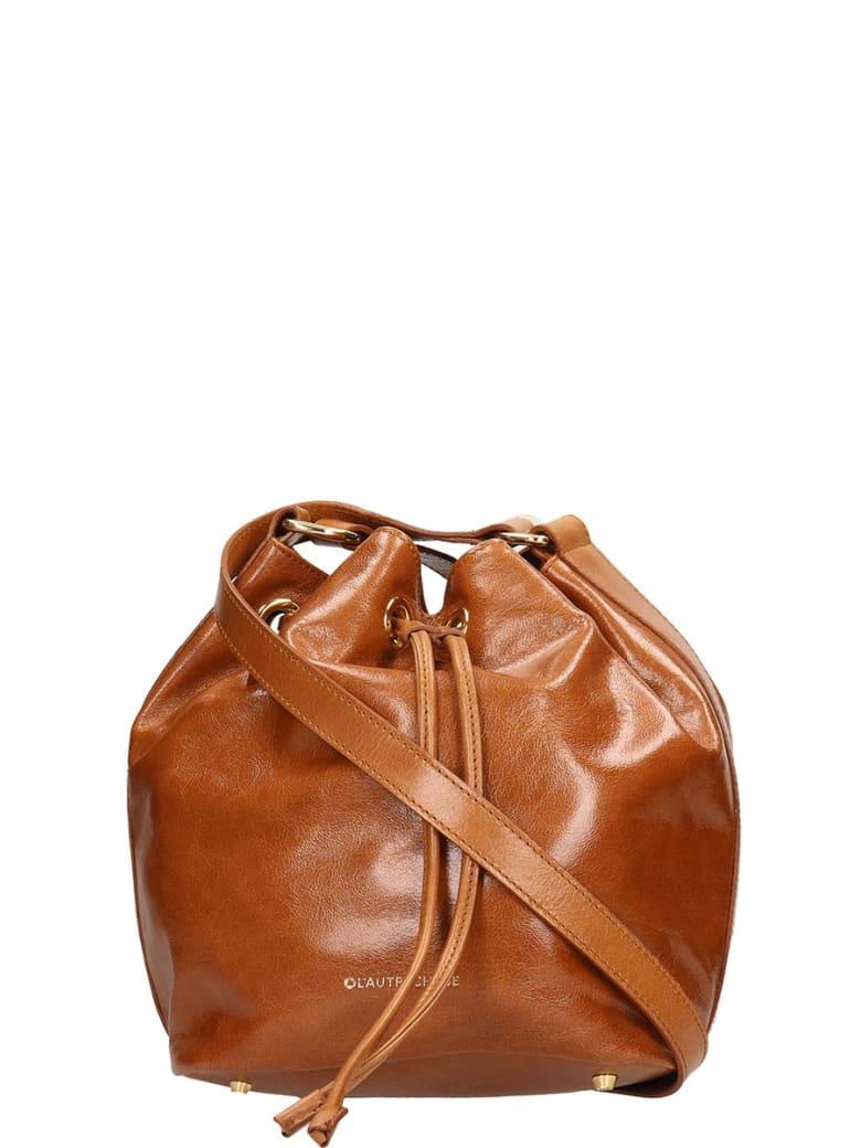 L'Autre Chose Brown Leather Bucket Bag - brown