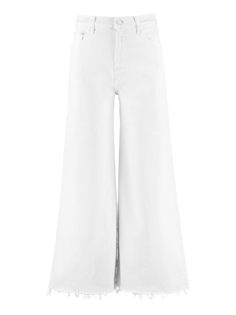 Mother The Undercover Ankle Fray Jeans - White