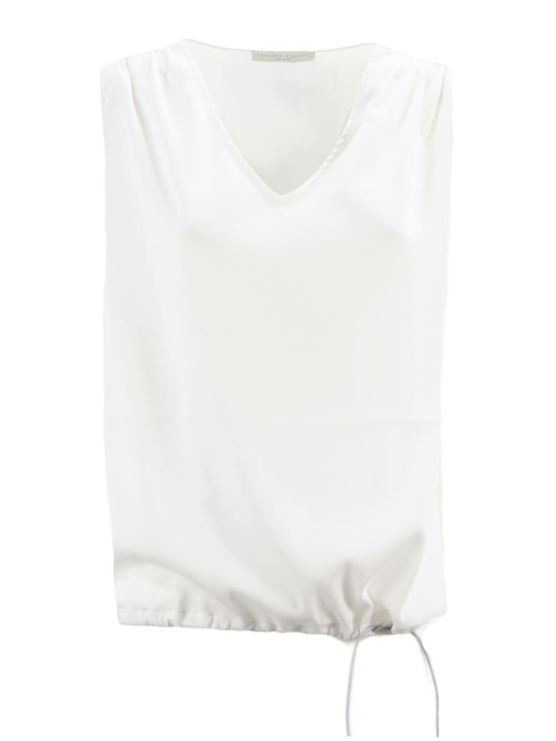 Fabiana Filippi White Lightweight Silk Top - Panna