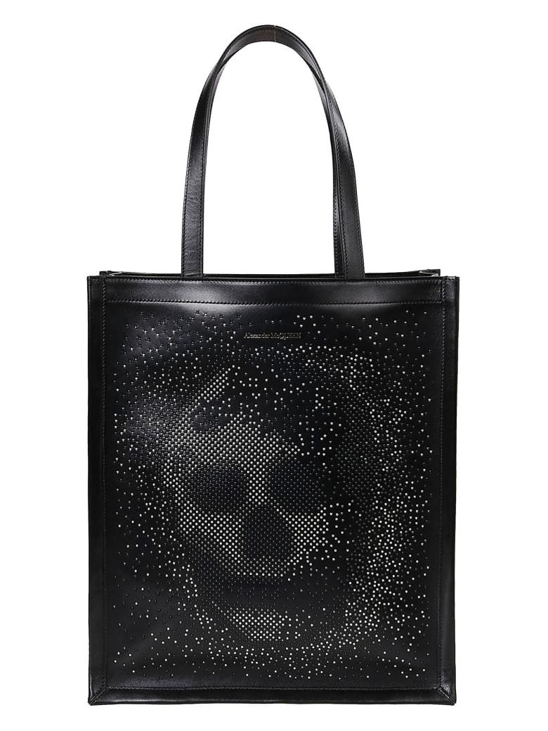 Alexander McQueen Skull Studded Tote Bag - Black