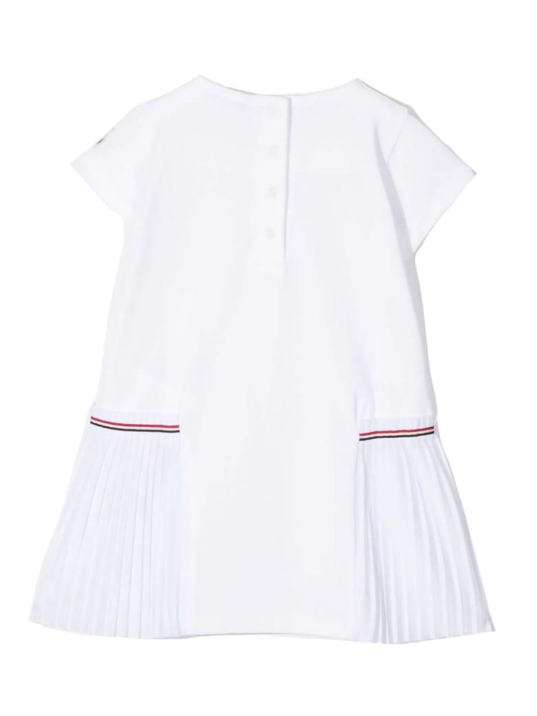 Moncler White Stretch-cotton T-shirt Dress - Bianco