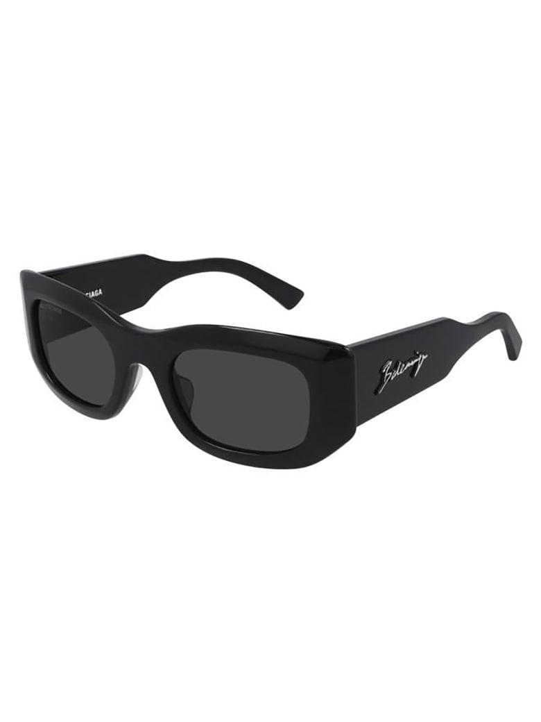 Balenciaga BB0121S Sunglasses - Black Black Grey