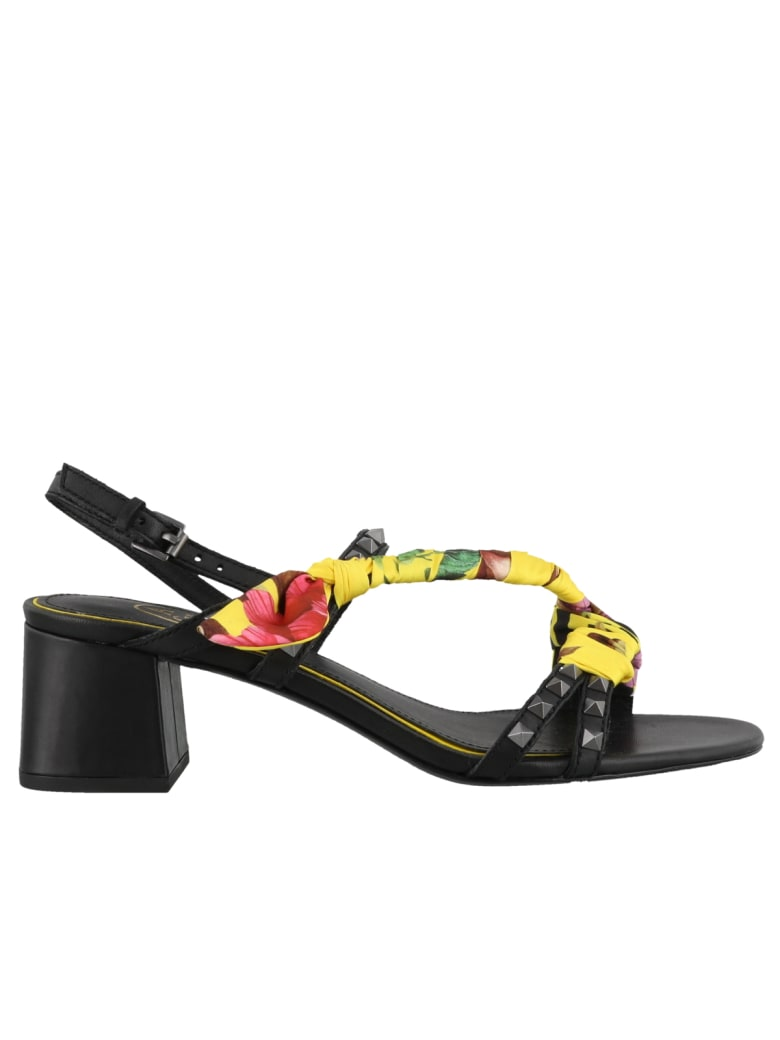 Ash Iconic Sandals - Black yellow