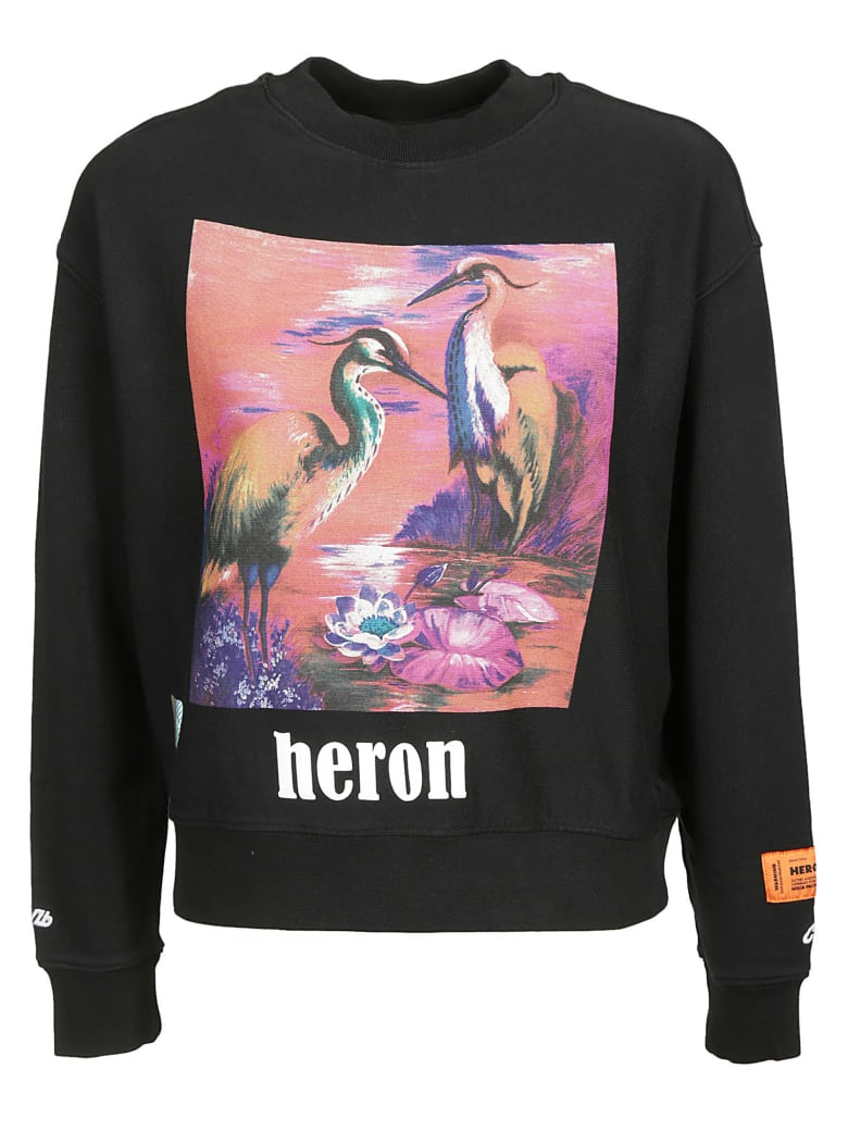 HERON PRESTON Graphic Sweatshirt - Black Multicolor
