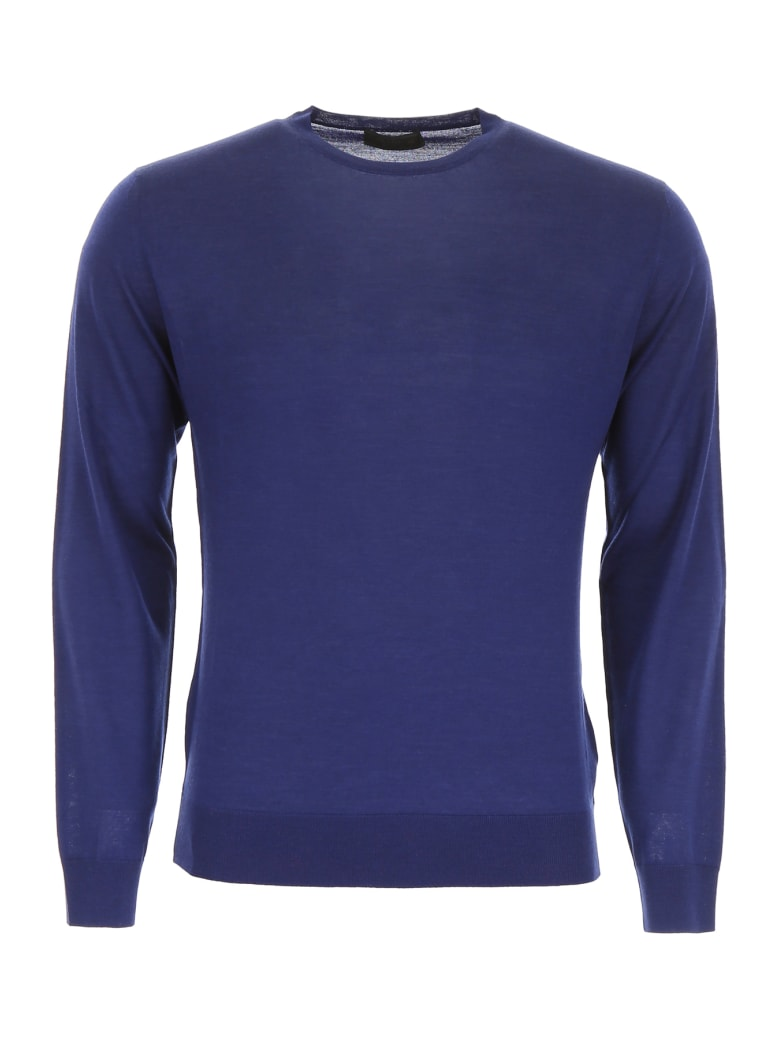Prada Brushed Wool Pullover - BALTICO (Blue)