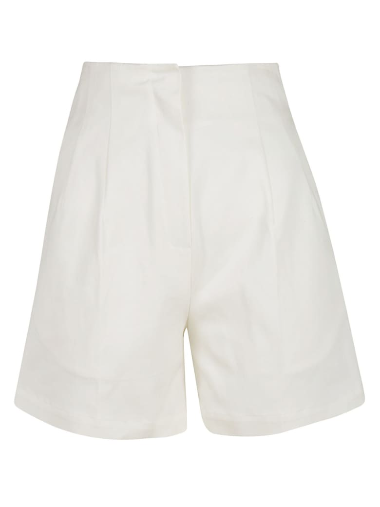 L'Autre Chose Flared Shorts - White
