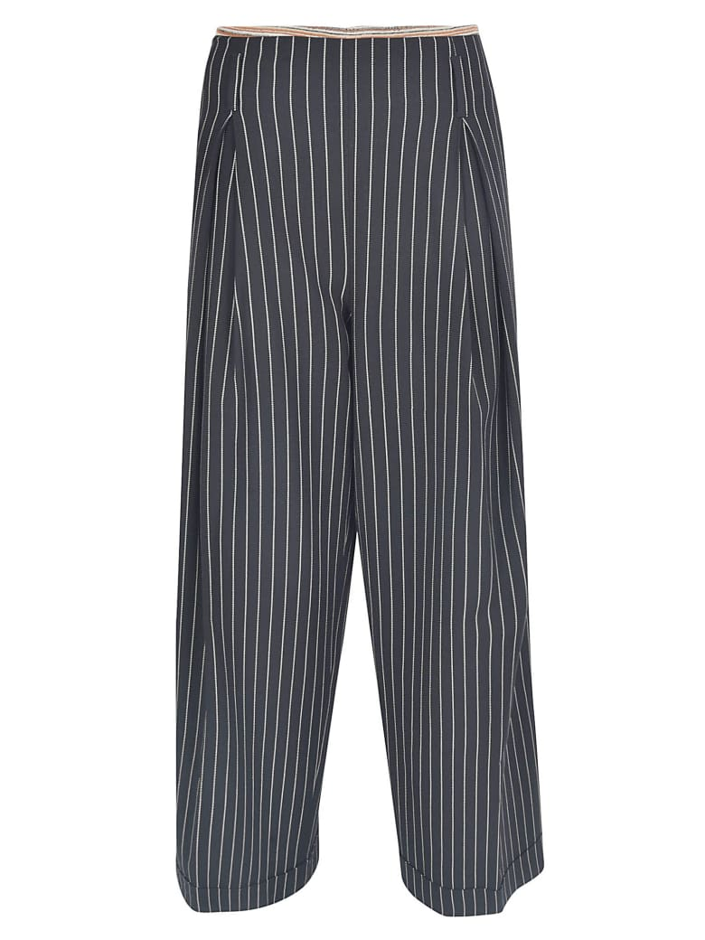 Ibrigu Straight-leg Striped Trousers - Black