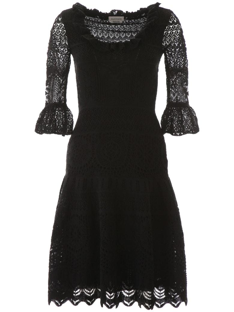 Alexander McQueen Lace Midi Dress - BLACK (Black)