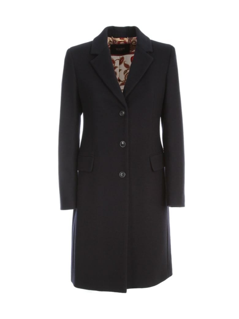 Seventy Sinlge Breasted Coat - Blu