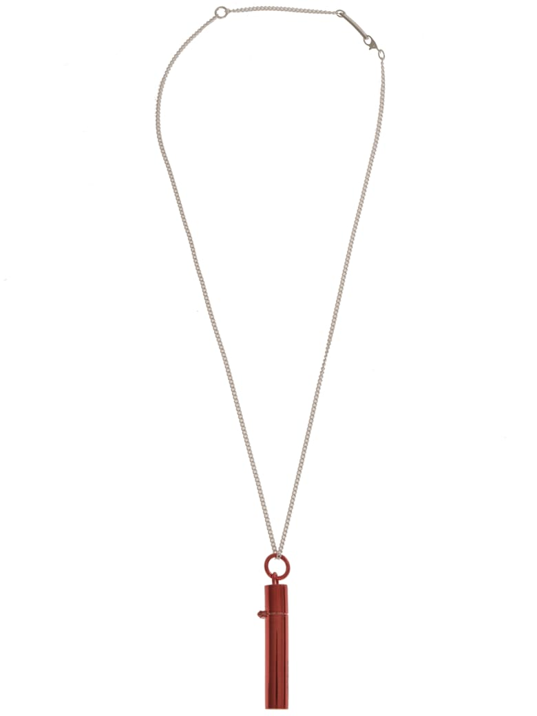 AMBUSH Sss Pill Case Necklace - Red