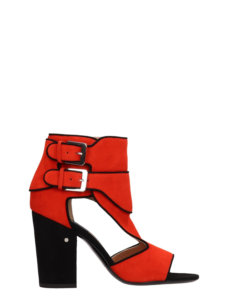 Laurence Dacade Rush Suede Leather Sandals - red