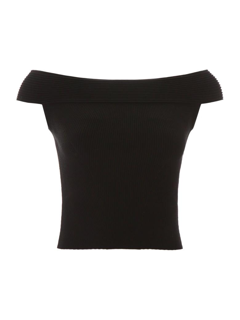 Alexander McQueen Off-shoulder Top - BLACK (Black)