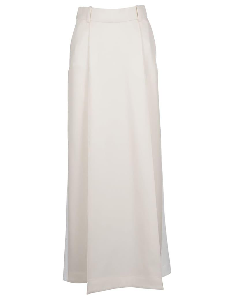Victoria Beckham Pleated Skirt - Ivory