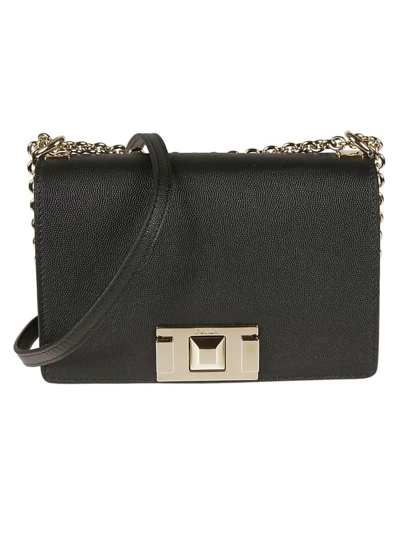 Furla Flap Chain Shoulder Bag - Black