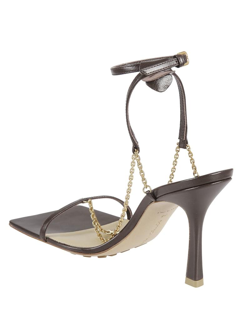 Bottega Veneta Lounge Stretch Sandals - Ebony