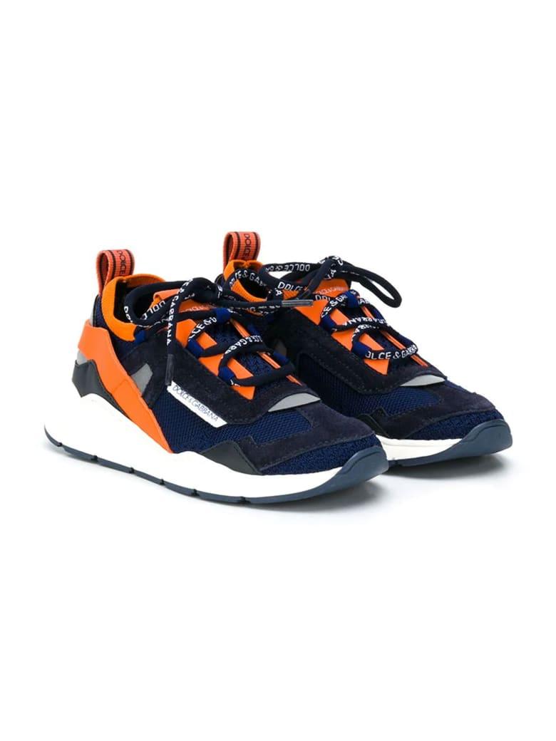 Dolce & Gabbana Blue And Orange Sneakers Dolce&gabbana Kids - Blu/arancio