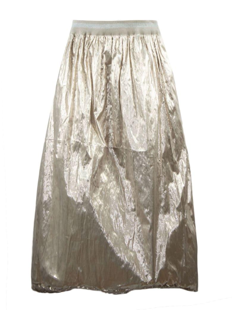 Fabiana Filippi Gold Toned Lightweight Metallic Skirt - Rosato