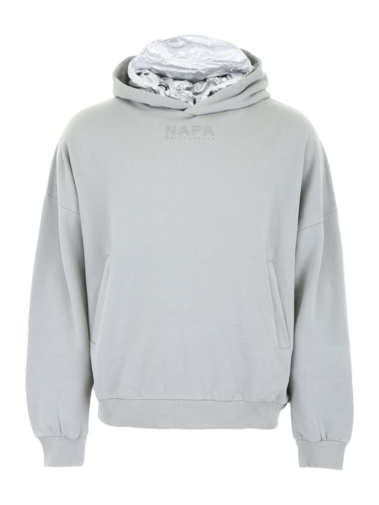 Napa By Martine Rose Hoodie With Detachable Insert - GREY (Yellow)