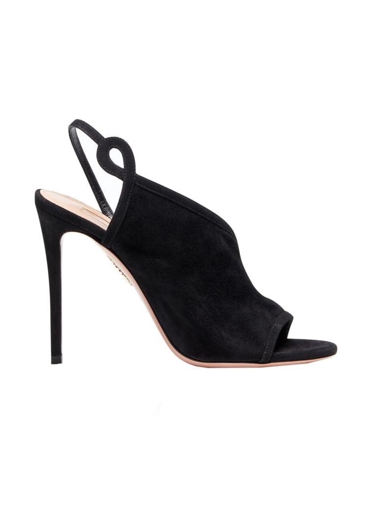 Aquazzura Black Very Serpentine Sandals - BLACK