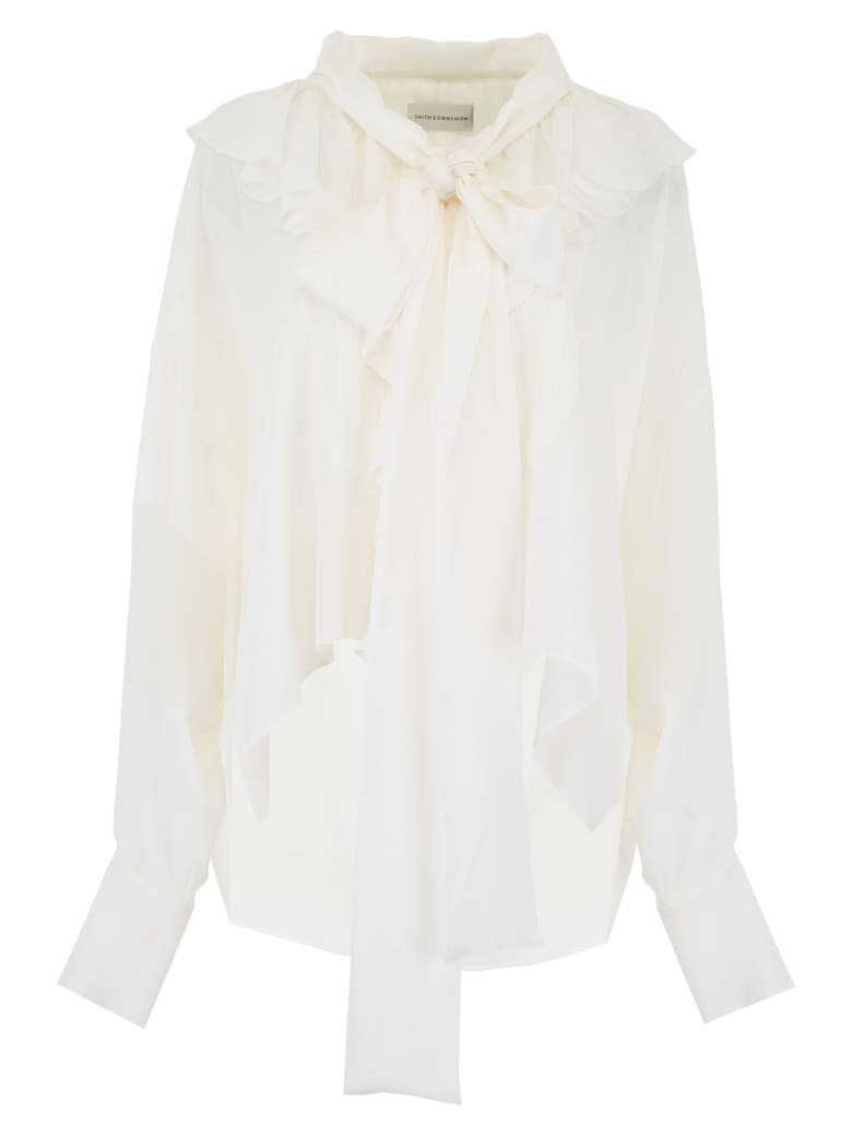 Faith Connexion Ruffled Shirt - OFF WHITE (White)