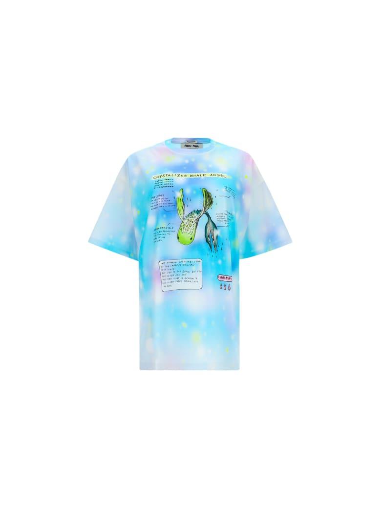 Miu Miu T-shirt - Azzurro