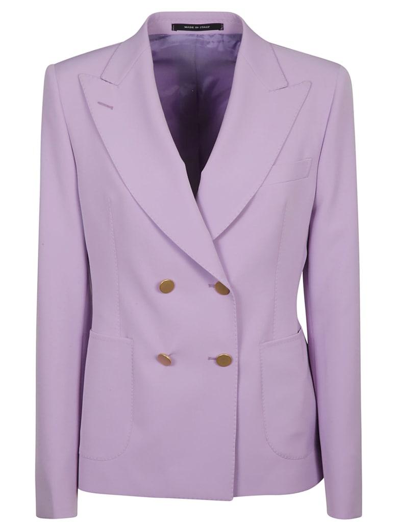 Tagliatore Double-breasted Plain Blazer - Purple