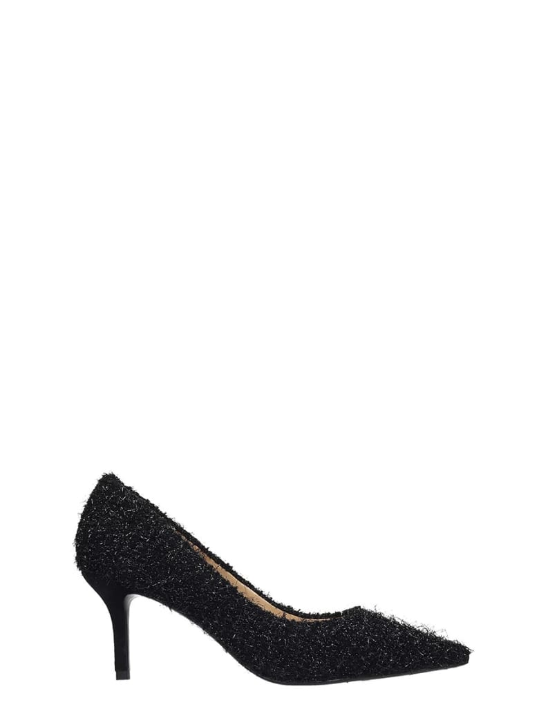 Bibi Lou Pumps In Black Glitter - black