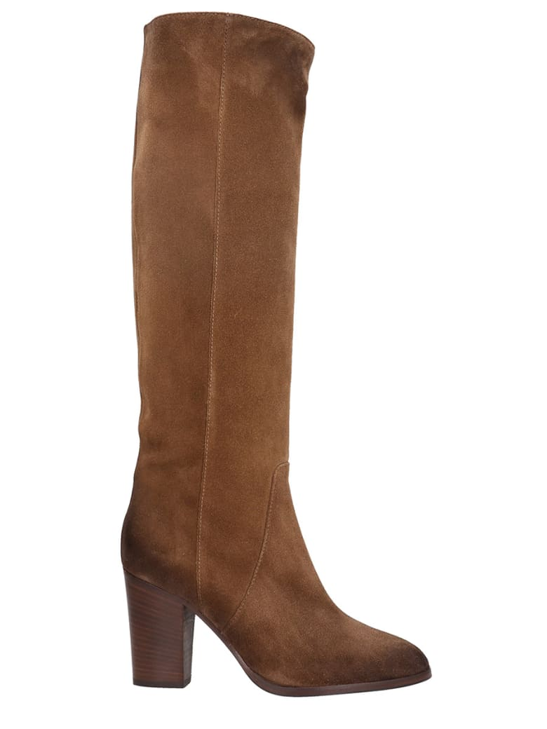 Fabio Rusconi High Heels Boots In Brown Suede - brown