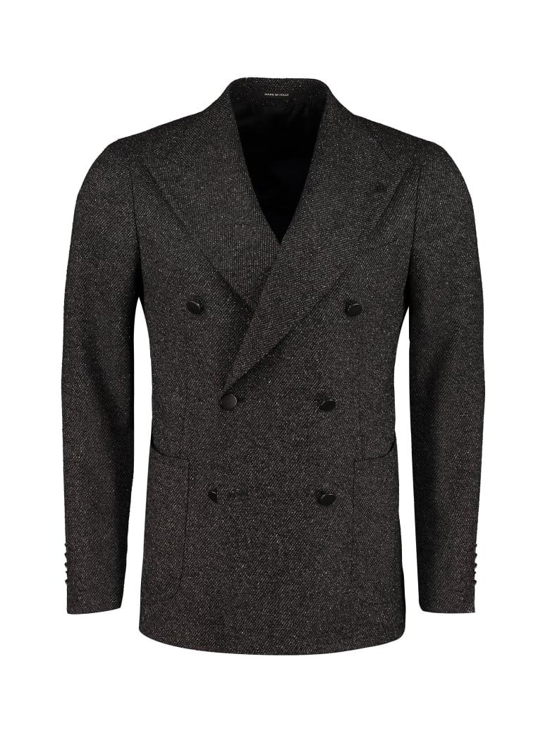Tagliatore Virgin Wool Blend Double-breasted Coat - grey